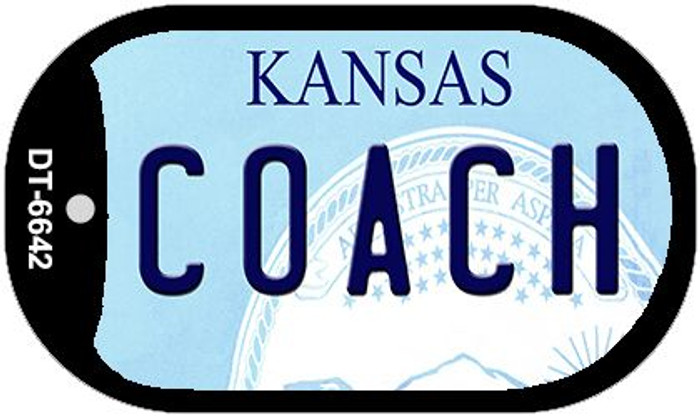 Coach Kansas Wholesale Novelty Metal Dog Tag Necklace DT-6642