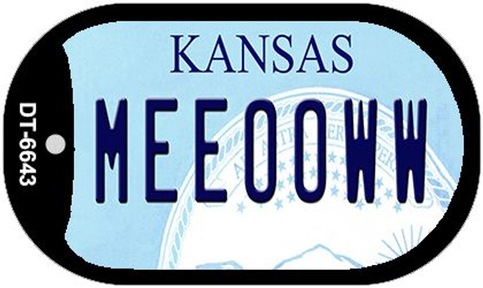 Meeooww Kansas Wholesale Novelty Metal Dog Tag Necklace DT-6643