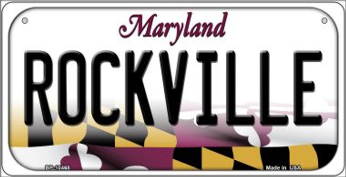 Rockville Maryland Wholesale Novelty Metal Bicycle Plate BP-10468