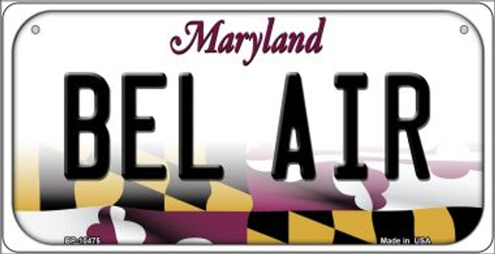 Bel Air Maryland Wholesale Novelty Metal Bicycle Plate BP-10475
