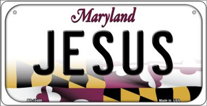 Jesus Maryland Wholesale Novelty Metal Bicycle Plate BP-10489