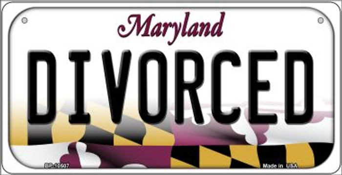 Divorced Maryland Wholesale Novelty Metal Bicycle Plate BP-10507