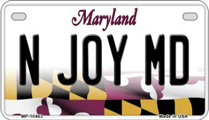 N Joy MD Wholesale Novelty Metal Motorcycle Plate MP-10463