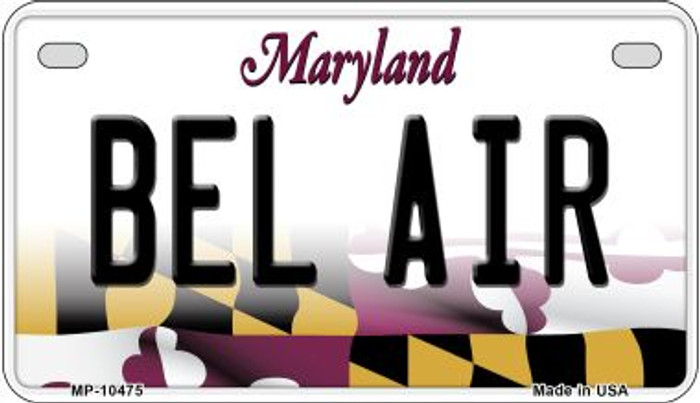 Bel Air Maryland Wholesale Novelty Metal Motorcycle Plate MP-10475