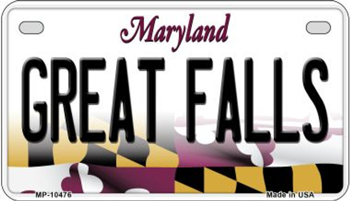 Great Falls Maryland Wholesale Novelty Metal Motorcycle Plate MP-10476