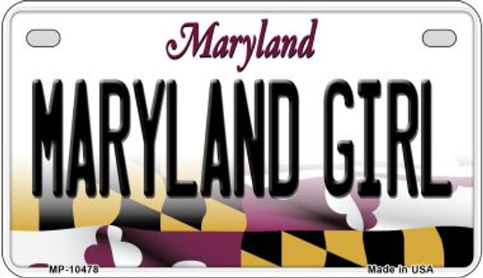 Maryland Girl Maryland Wholesale Novelty Metal Motorcycle Plate MP-10478