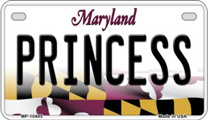 Princess Maryland Wholesale Novelty Metal Motorcycle Plate MP-10495