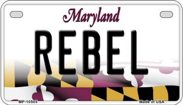 Rebel Maryland Wholesale Novelty Metal Motorcycle Plate MP-10505