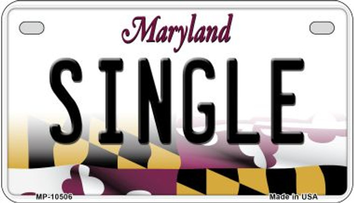 Single Maryland Wholesale Novelty Metal Motorcycle Plate MP-10506