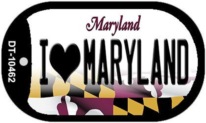 I Love Maryland Wholesale Novelty Metal Dog Tag Necklace DT-10462