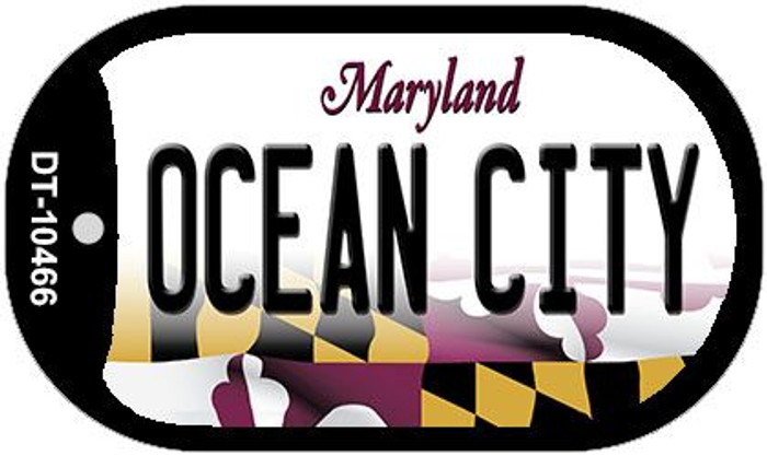 Ocean City Maryland Wholesale Novelty Metal Dog Tag Necklace DT-10466