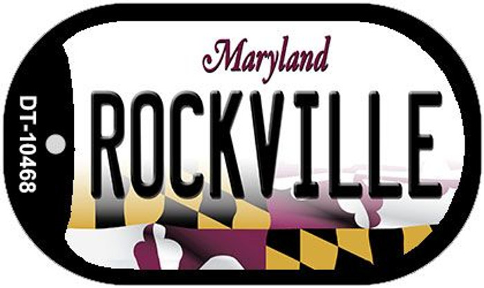 Rockville Maryland Wholesale Novelty Metal Dog Tag Necklace DT-10468