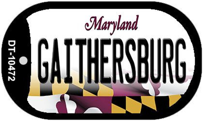 Gaithersbury Maryland Wholesale Novelty Metal Dog Tag Necklace DT-10472