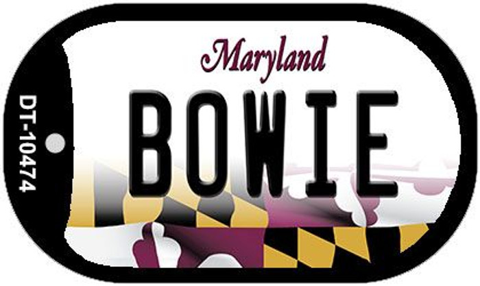Bowie Maryland Wholesale Novelty Metal Dog Tag Necklace DT-10474