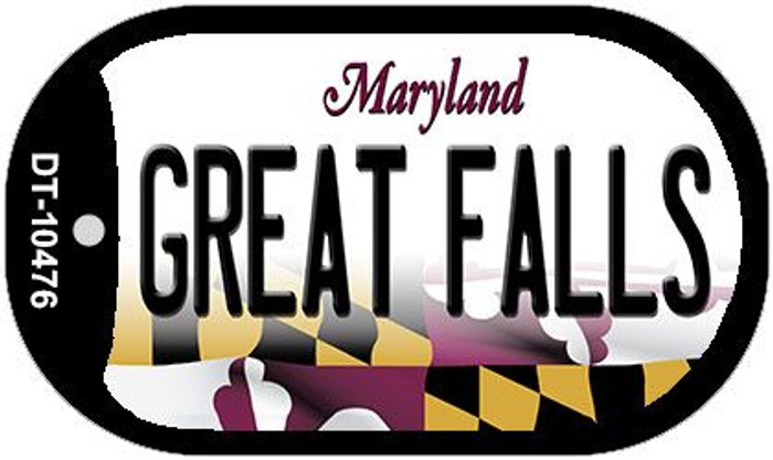 Great Falls Maryland Wholesale Novelty Metal Dog Tag Necklace DT-10476