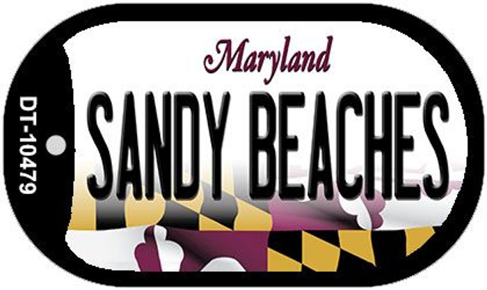 Sandy Beaches Maryland Wholesale Novelty Metal Dog Tag Necklace DT-10479
