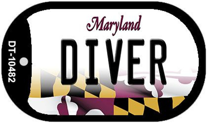 Diver Maryland Wholesale Novelty Metal Dog Tag Necklace DT-10482