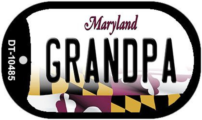 Grandpa Maryland Wholesale Novelty Metal Dog Tag Necklace DT-10485