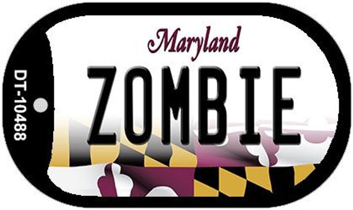 Zombie Maryland Wholesale Novelty Metal Dog Tag Necklace DT-10488
