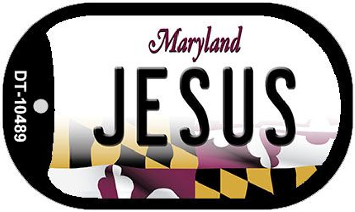 Jesus Maryland Wholesale Novelty Metal Dog Tag Necklace DT-10489