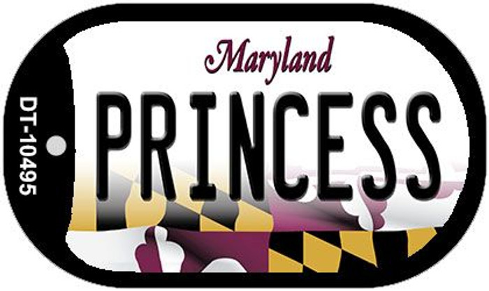 Princess Maryland Wholesale Novelty Metal Dog Tag Necklace DT-10495
