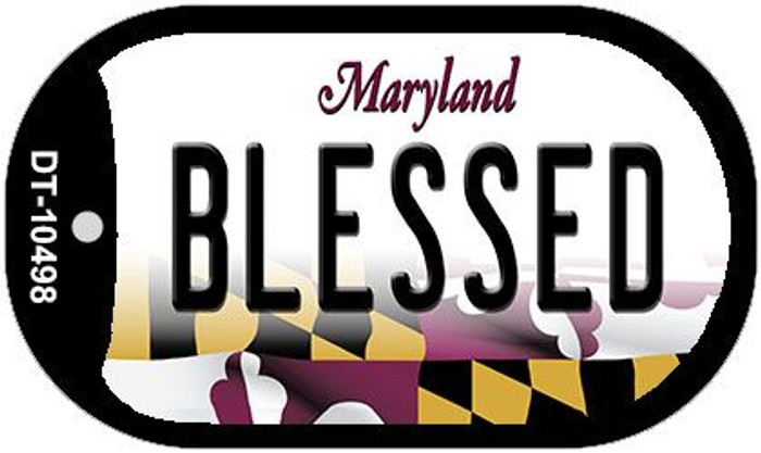 Blessed Maryland Wholesale Novelty Metal Dog Tag Necklace DT-10498