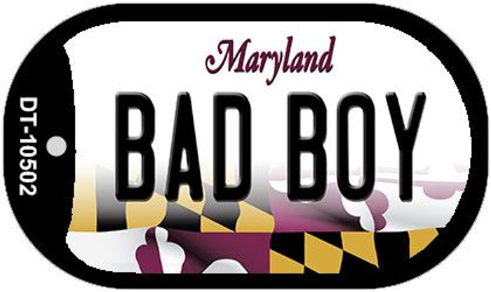 Bad Boy Maryland Wholesale Novelty Metal Dog Tag Necklace DT-10502