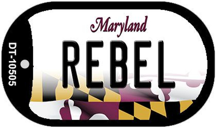 Rebel Maryland Wholesale Novelty Metal Dog Tag Necklace DT-10505