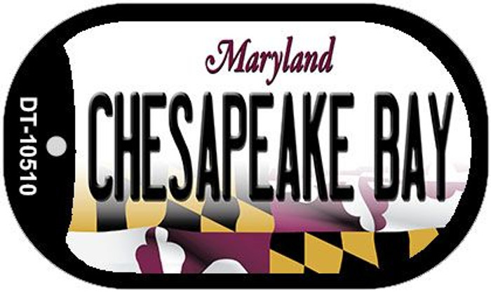 Chesapeake Bay Maryland Wholesale Novelty Metal Dog Tag Necklace DT-10510