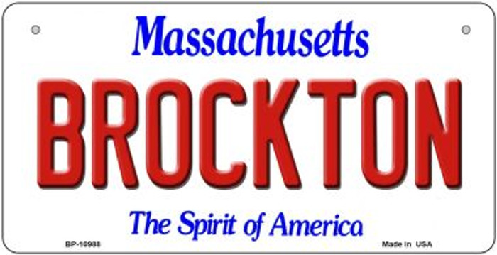 Brockton Massachusetts Wholesale Novelty Metal Bicycle Plate BP-10988
