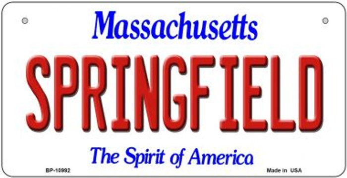 Springfield Massachusetts Wholesale Novelty Metal Bicycle Plate BP-10992