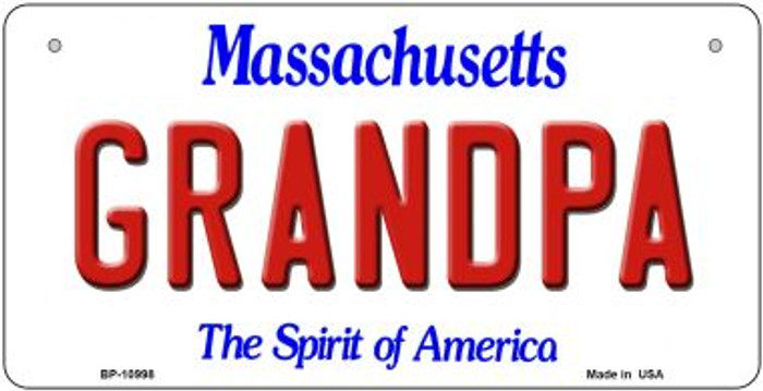 Grandpa Massachusetts Wholesale Novelty Metal Bicycle Plate BP-10998