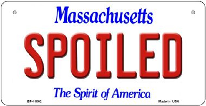 Spoiled Massachusetts Wholesale Novelty Metal Bicycle Plate BP-11002