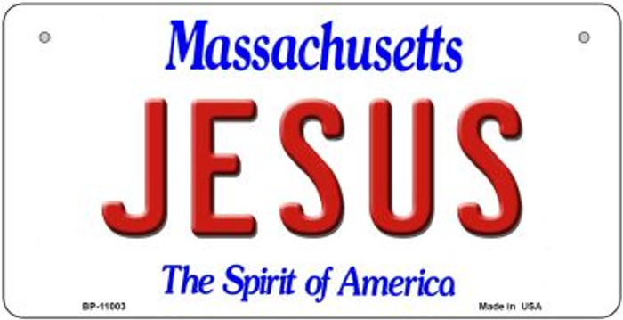 Jesus Massachusetts Wholesale Novelty Metal Bicycle Plate BP-11003