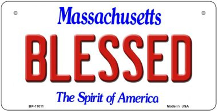 Blessed Massachusetts Wholesale Novelty Metal Bicycle Plate BP-11011