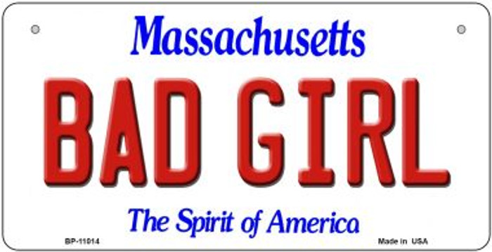 Bad Girl Massachusetts Wholesale Novelty Metal Bicycle Plate BP-11014