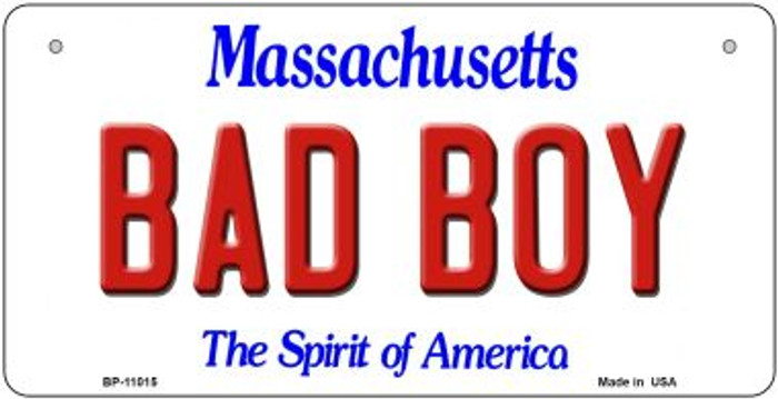 Bad Boy Massachusetts Wholesale Novelty Metal Bicycle Plate BP-11015