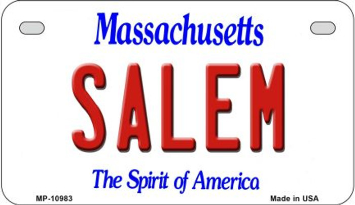 Salem Massachusetts Wholesale Novelty Metal Motorcycle Plate MP-10983