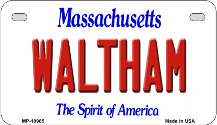 Waltham Massachusetts Wholesale Novelty Metal Motorcycle Plate MP-10985