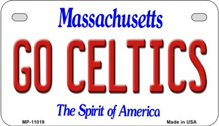 Go Celtics Massachusetts Wholesale Novelty Metal Motorcycle Plate MP-11019