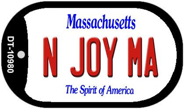 N Joy MA Massachusetts Wholesale Novelty Metal Dog Tag Necklace DT-10980