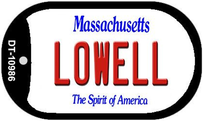 Lowell Massachusetts Wholesale Novelty Metal Dog Tag Necklace DT-10986