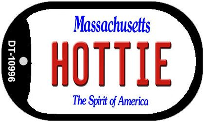 Hottie Massachusetts Wholesale Novelty Metal Dog Tag Necklace DT-10996
