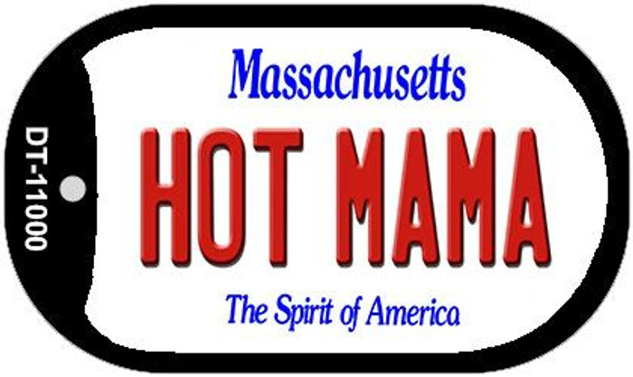 Hot Mama Massachusetts Wholesale Novelty Metal Dog Tag Necklace DT-11000