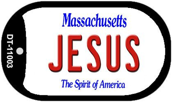 Jesus Massachusetts Wholesale Novelty Metal Dog Tag Necklace DT-11003