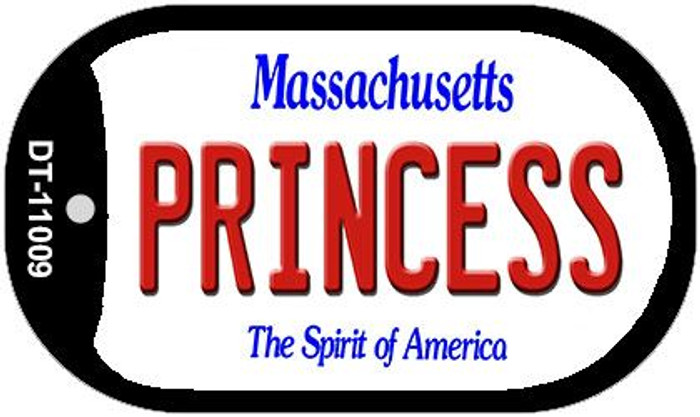 Princess Massachusetts Wholesale Novelty Metal Dog Tag Necklace DT-11009