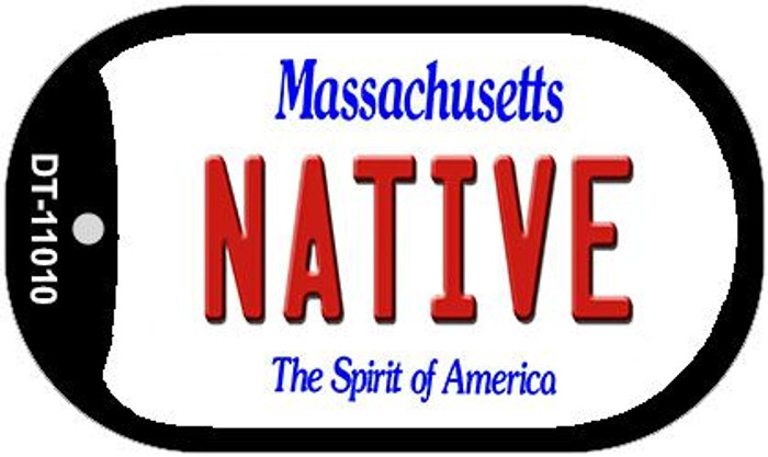 Native Massachusetts Wholesale Novelty Metal Dog Tag Necklace DT-11010