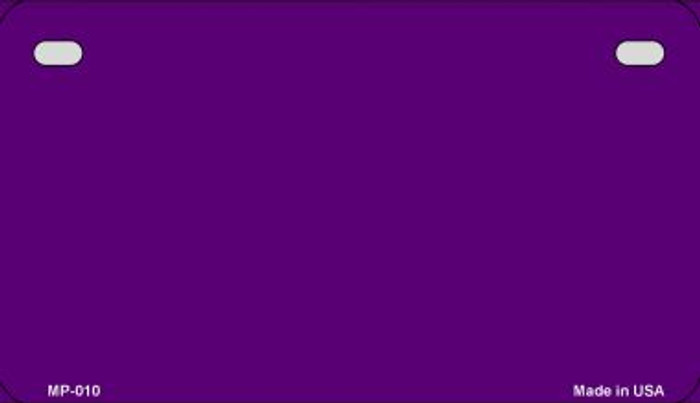 Purple Solid Wholesale Novelty Metal Motorcycle Plate MP-2714