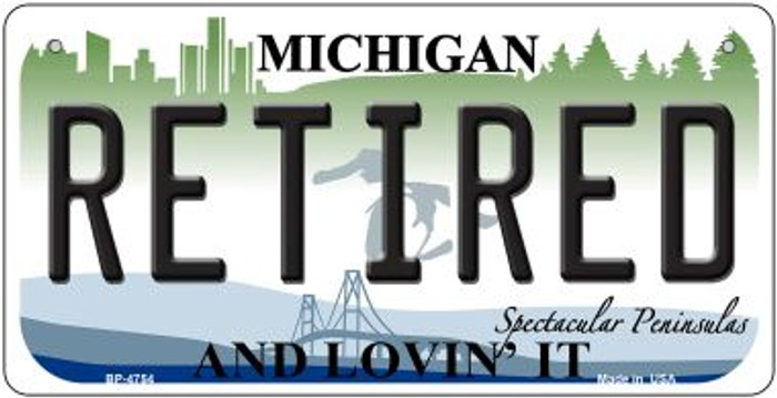 Retired Michigan Wholesale Novelty Metal Bicycle Plate BP-4754
