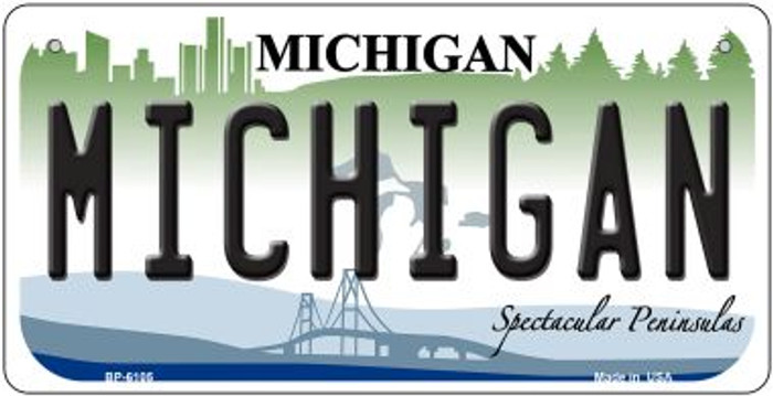 Michigan Wholesale Novelty Metal Bicycle Plate BP-6105